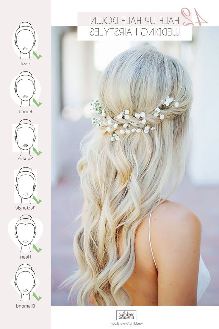 Newest Long Half Updo Hairstyles With Accessories Inside 42 Half Up Half Down Wedding Hairstyles Ideas – #accessories (View 12 of 20)
