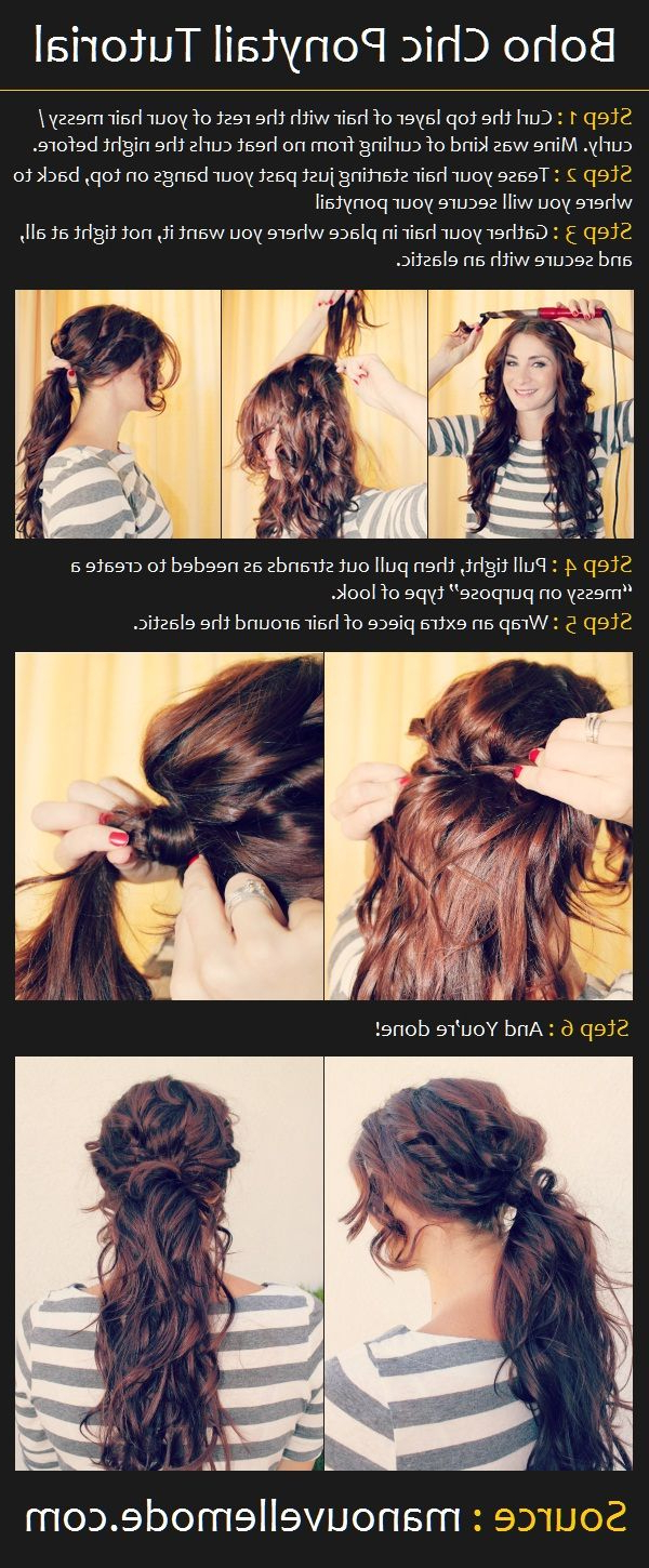 Newest Messy High Ponytail Hairstyles With Teased Top For The Boho Chic Ponytail (View 12 of 20)