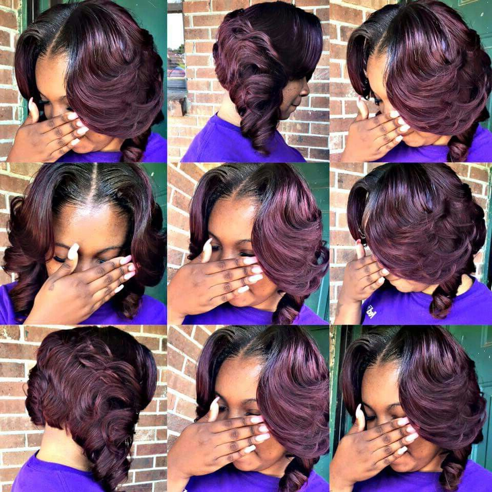 Pin On Blunt Cuts For Latest Blunt Wavy Bob Hairstyles With Center Part (Gallery 19 of 20)