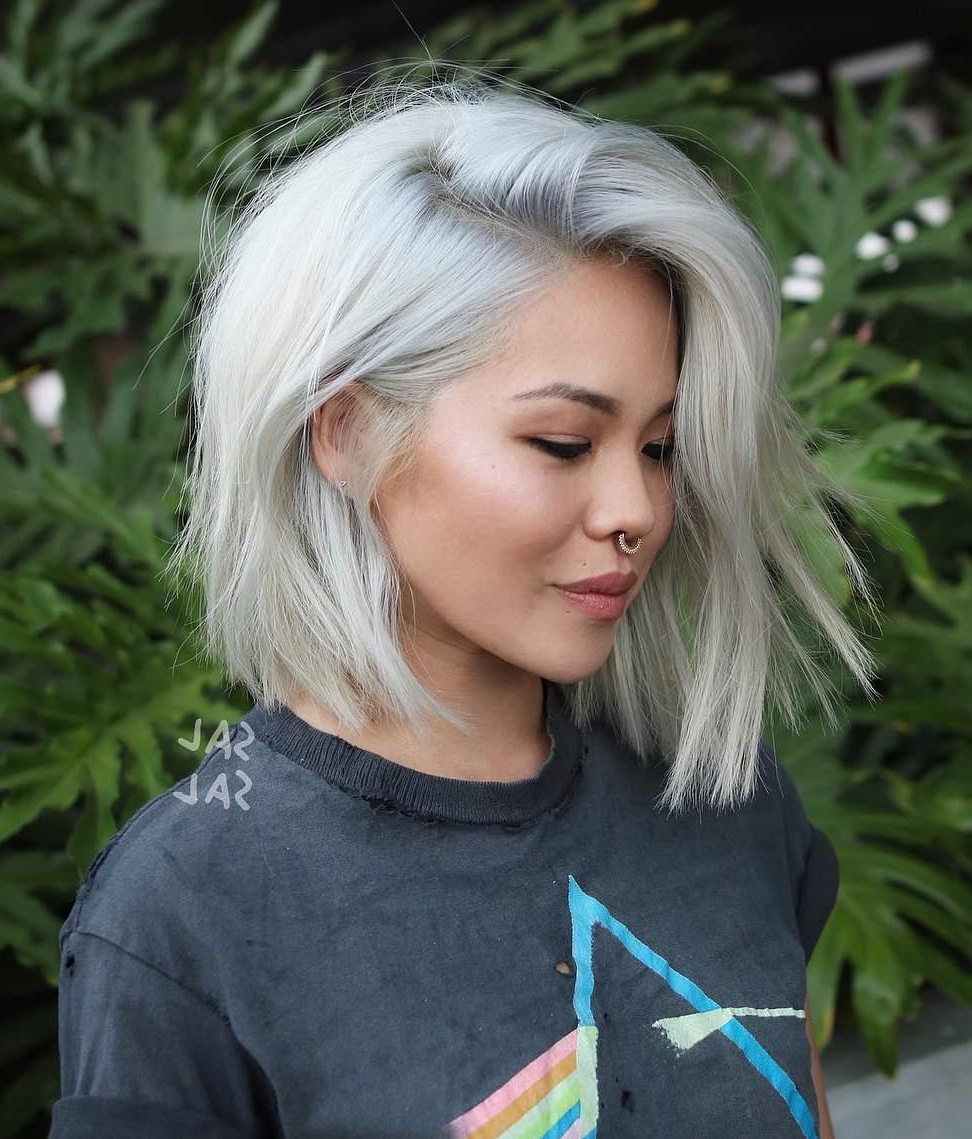 Pin On Bob Haircut 2018 Throughout Well Liked Short Platinum Blonde Bob Hairstyles (View 15 of 20)