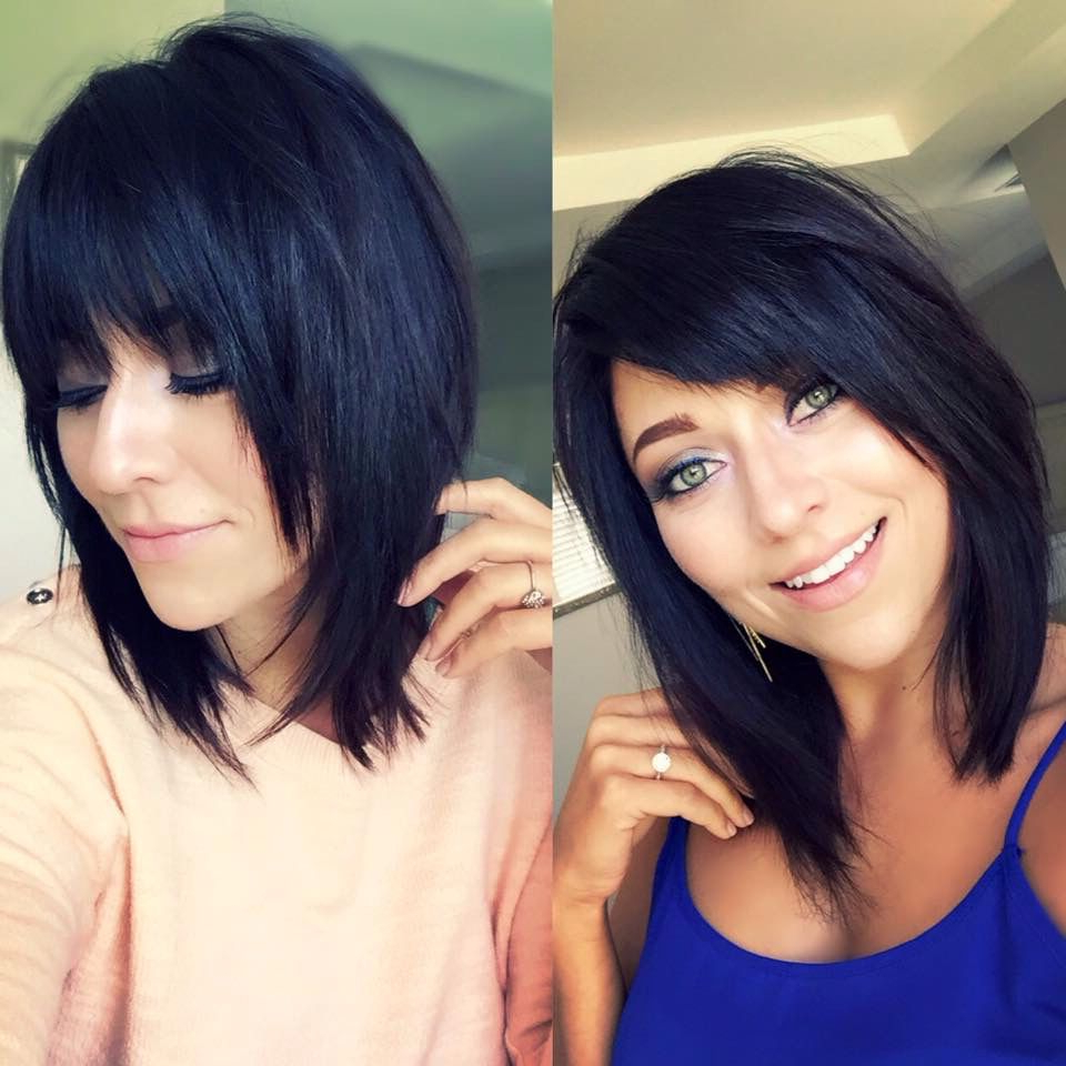 Pin On Colorstara(Me) Pertaining To Most Up To Date Shoulder Length Bob Hairstyles With Side Bang (View 14 of 20)
