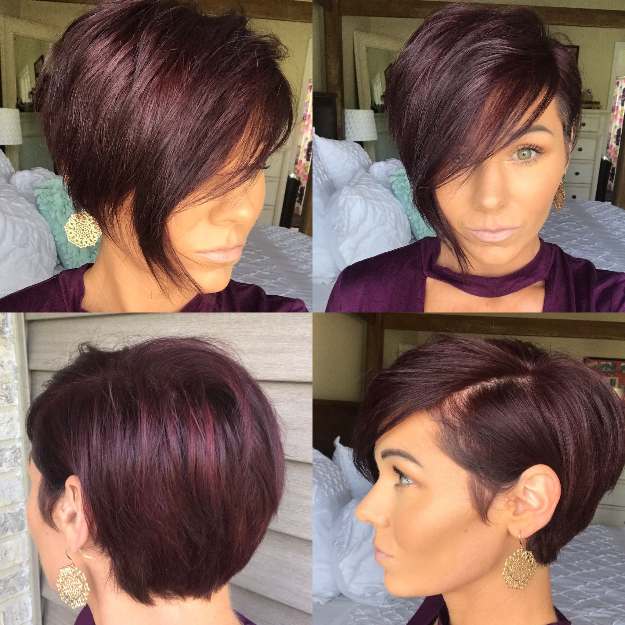 Pin On Do The 'do Pertaining To Most Up To Date Wavy Asymmetric Bob Hairstyles With Short Hair At One Side (View 9 of 20)
