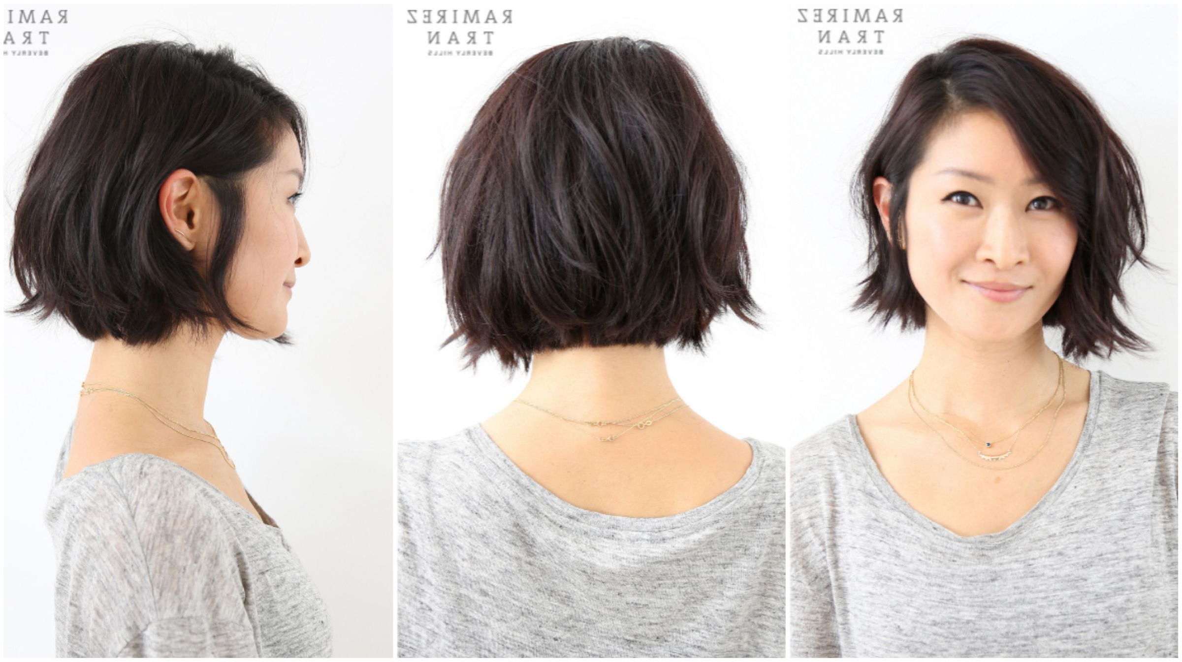Pin On Hair Intended For Famous Asymmetrical Bob Asian Hairstyles (View 16 of 20)