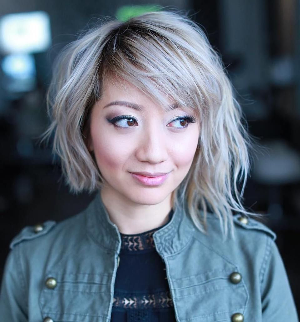 Pin On Hair Styles I May Or May Not Try For Popular Asymmetrical Bob Asian Hairstyles (View 17 of 20)