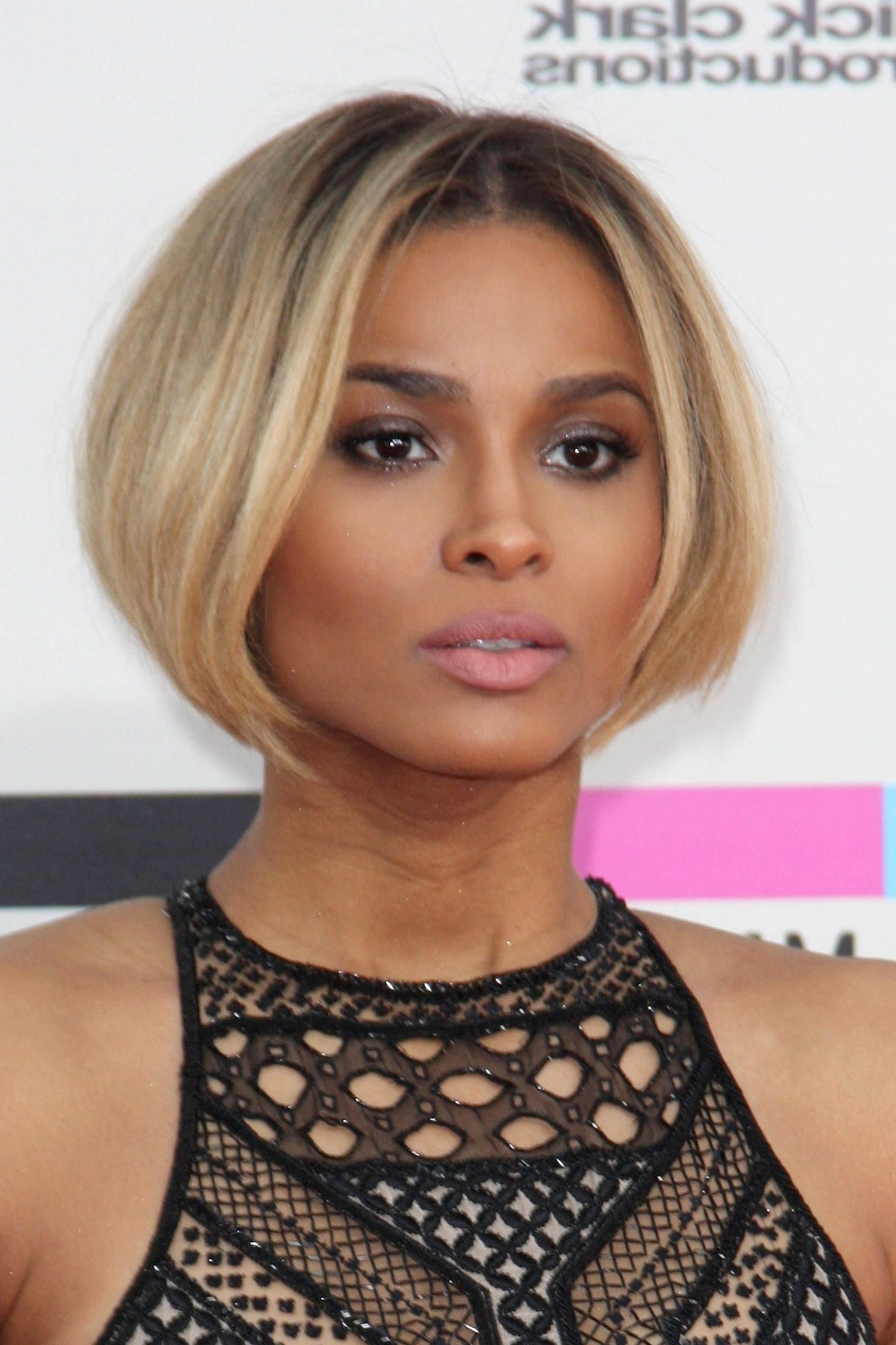Pin On Hair With Regard To 2019 Chin Length Bob Hairstyles With Middle Part (Gallery 2 of 20)
