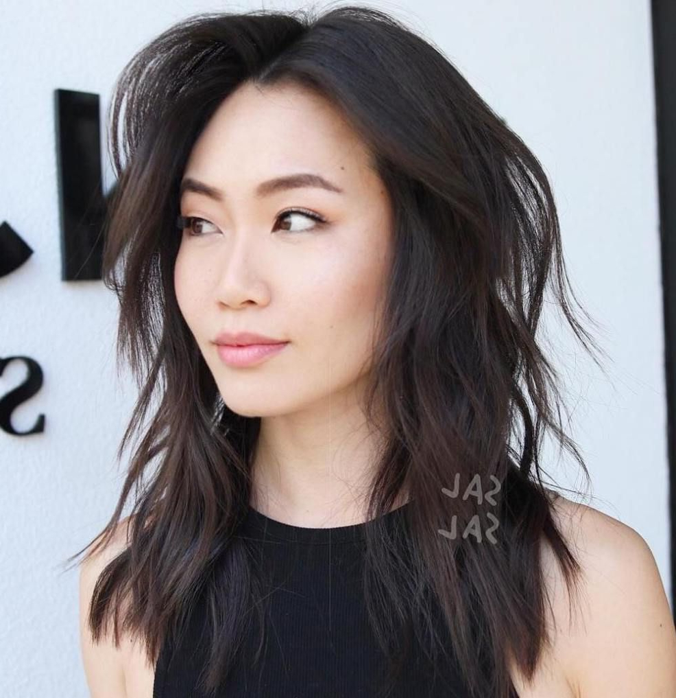 Pin On Haircut Intended For Most Recent Asian Medium Hairstyles With Textured Waves (View 1 of 20)