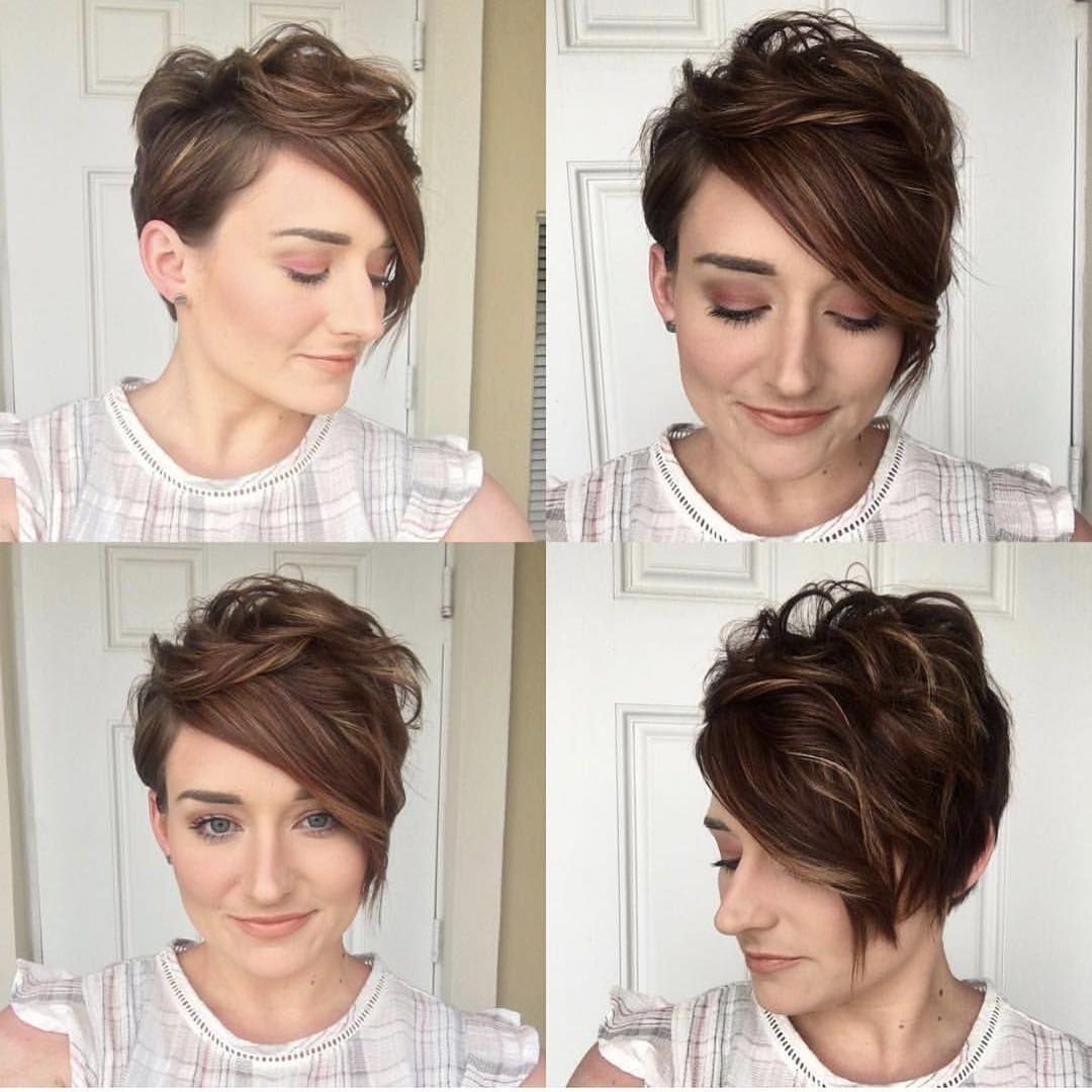 Pin On Obsessed With Pixies And Buzzcuts! With Regard To Preferred Angular Updo Hairstyles With Waves And Texture (Gallery 3 of 20)