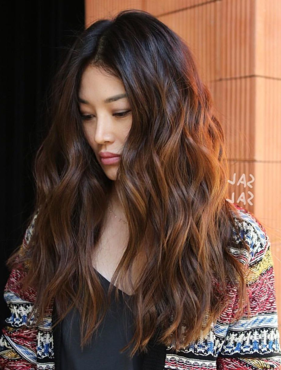 Pinterest: Deborahpraha ♥️ Curly Hair Style With Lots Of Regarding Popular Soft Ombre Waves Hairstyles For Asian Hair (Gallery 4 of 20)