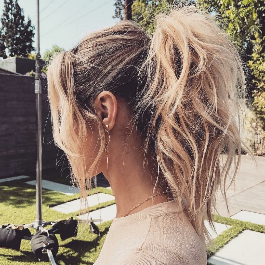Ponytail Within Current Messy High Ponytail Hairstyles With Teased Top (Gallery 5 of 20)