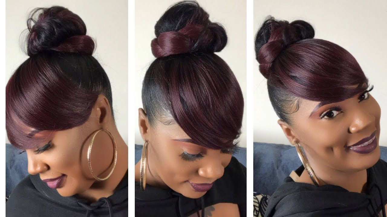 Popular Sleek High Bun Hairstyles With Side Sweep Inside Pin On Wigs I Like (View 5 of 20)