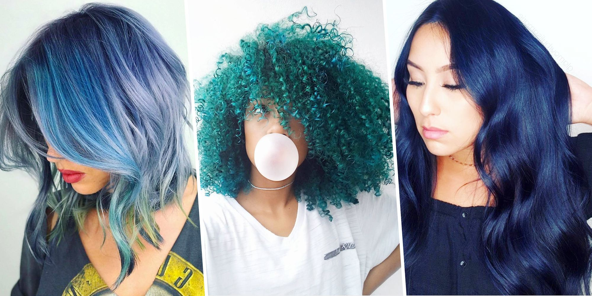 Preferred Black And Denim Blue Waves Hairstyles Inside 15 Best Blue Hairstyle Ideas – Pretty And Cool Blue Hair (View 7 of 20)