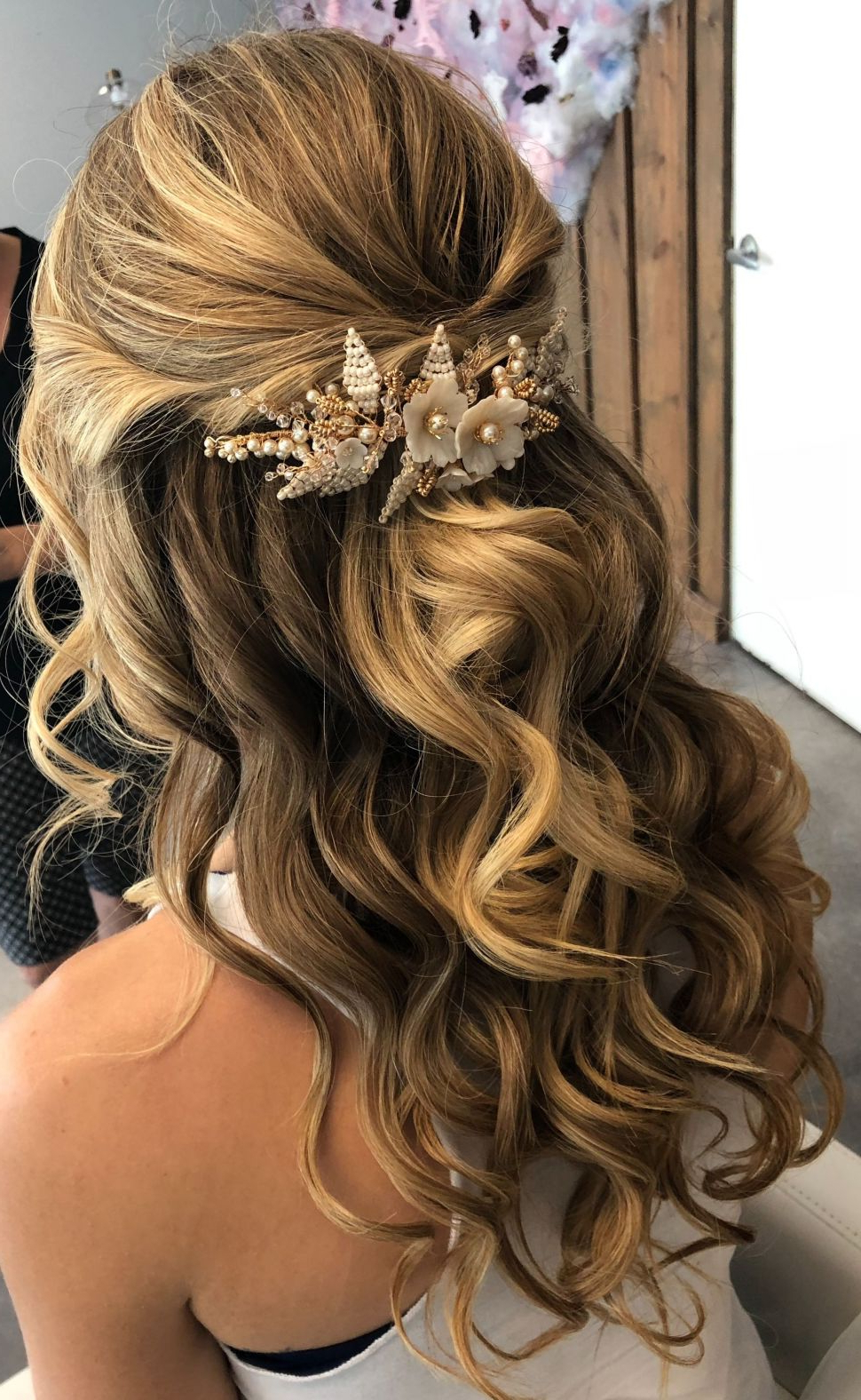 Preferred Long Half Updo Hairstyles With Accessories Regarding Hairstyles : Half Up Half Down Updo Hairstyles Ravishing (View 4 of 20)