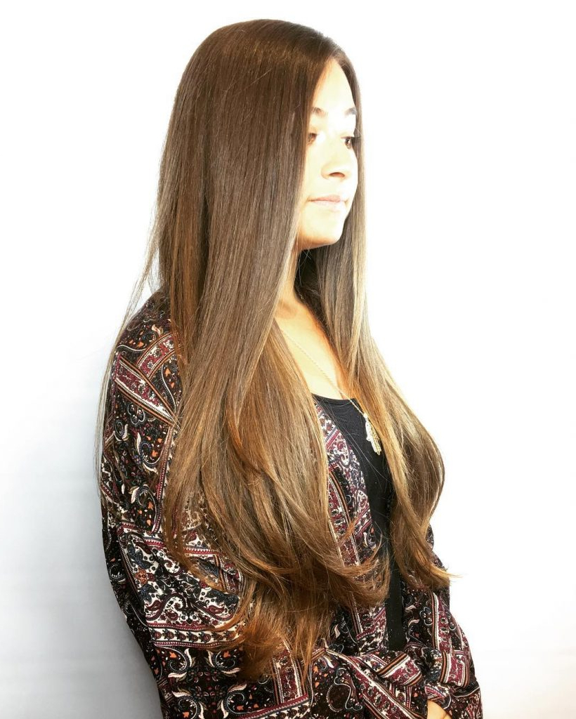 Preferred Sleek Straight And Long Layers Hairstyles Intended For 53 Gorgeous Long Layered Hairstyles – Prochronism (Gallery 16 of 20)