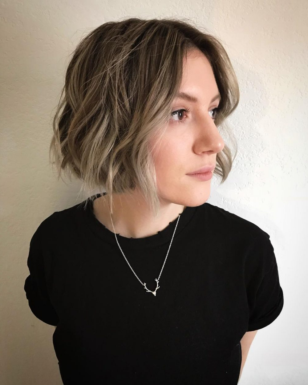 Recent Blunt Wavy Bob Hairstyles With Center Part With 25 Chin Length Bob Hairstyles That Will Stun You In  (View 17 of 20)