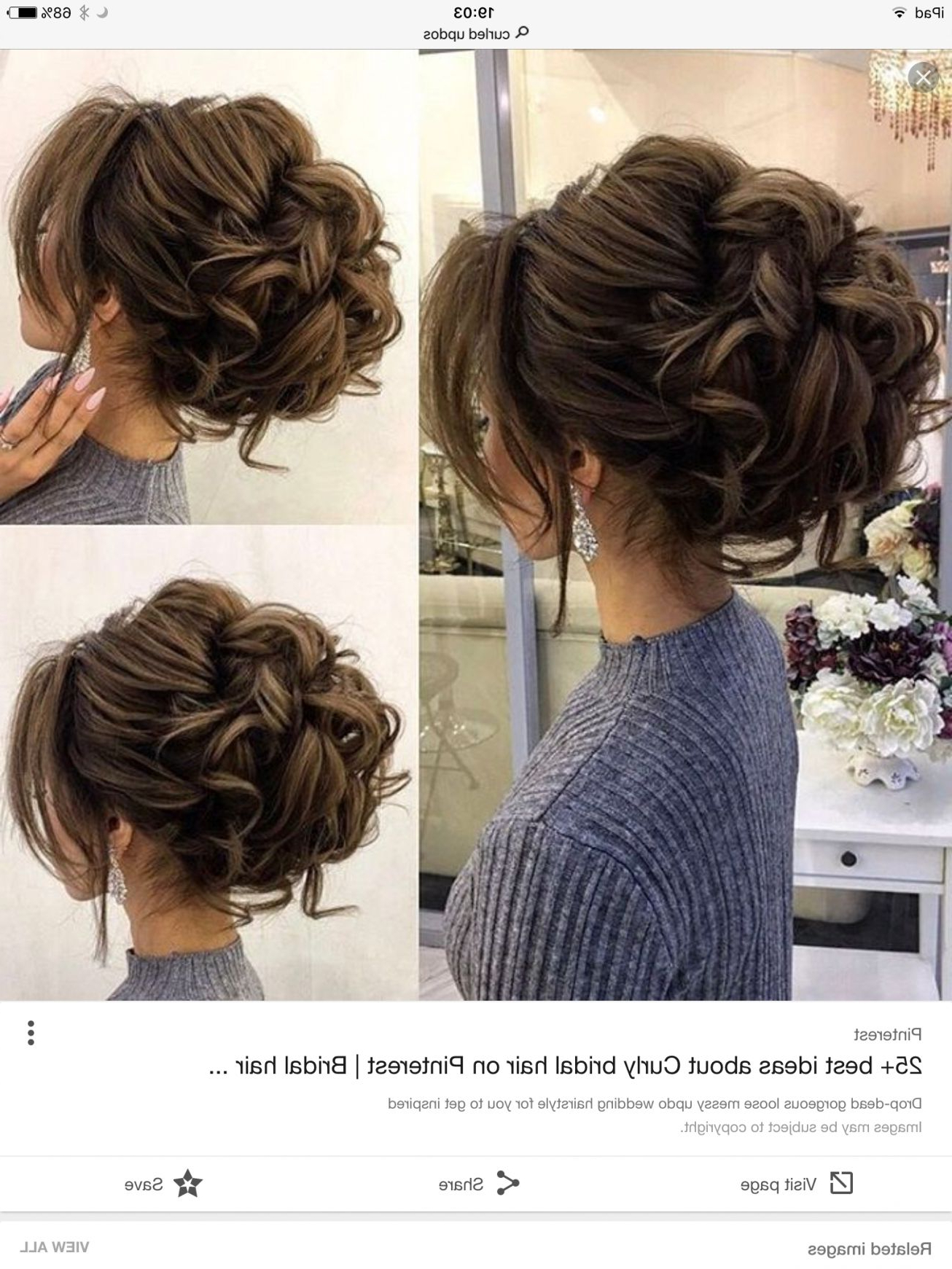 Recent Elegant Messy Updo Hairstyles On Curly Hair Regarding Drop Dead Gorgeous Loose Messy Updo Wedding Hairstyle For (View 2 of 20)