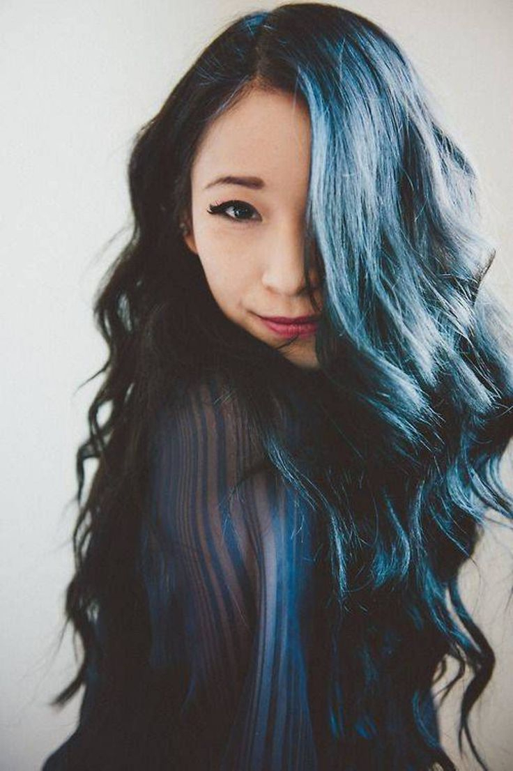 Recent Neon Long Asian Hairstyles With Isn't She Lovely With That Black And Blue Hair? (View 15 of 20)