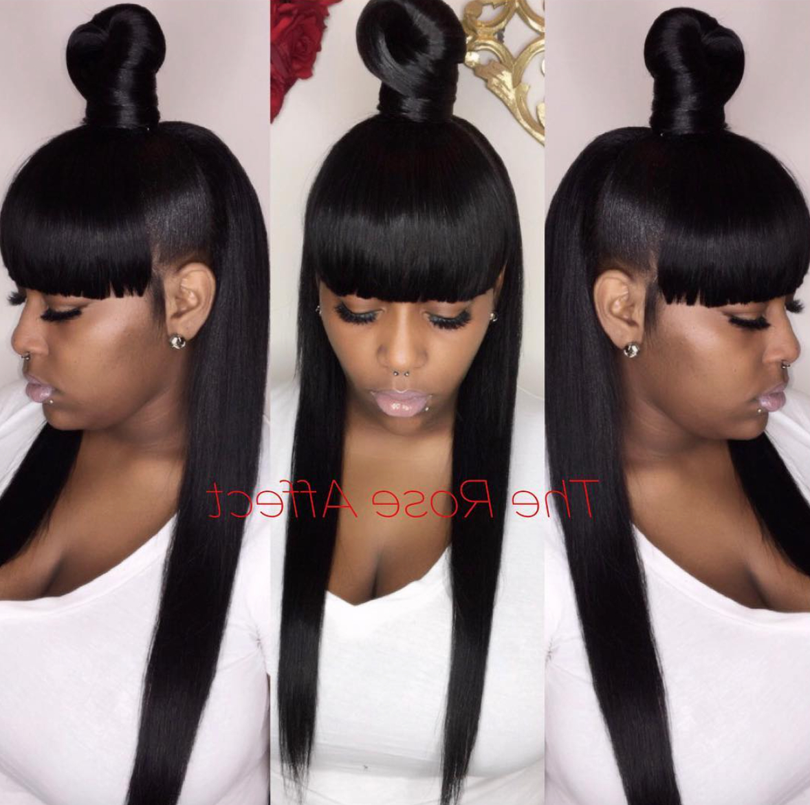 Recent Tight High Ponytail Hairstyles With Fringes Regarding Pindeedra Cooper On Styles In (View 16 of 20)