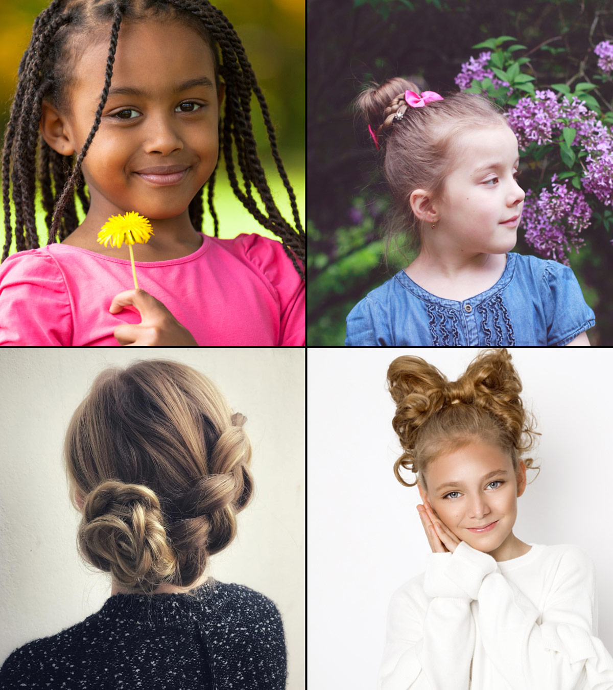 Recent Turned And Twisted Pigtails Hairstyles With Front Fringes With Regard To 19 Super Easy Hairstyles For Girls (View 15 of 20)
