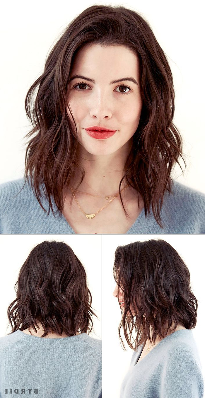 Recent Wavy Long Bob Hairstyles With Bangs Intended For Long Wavy Bob Hairstyles (View 8 of 20)