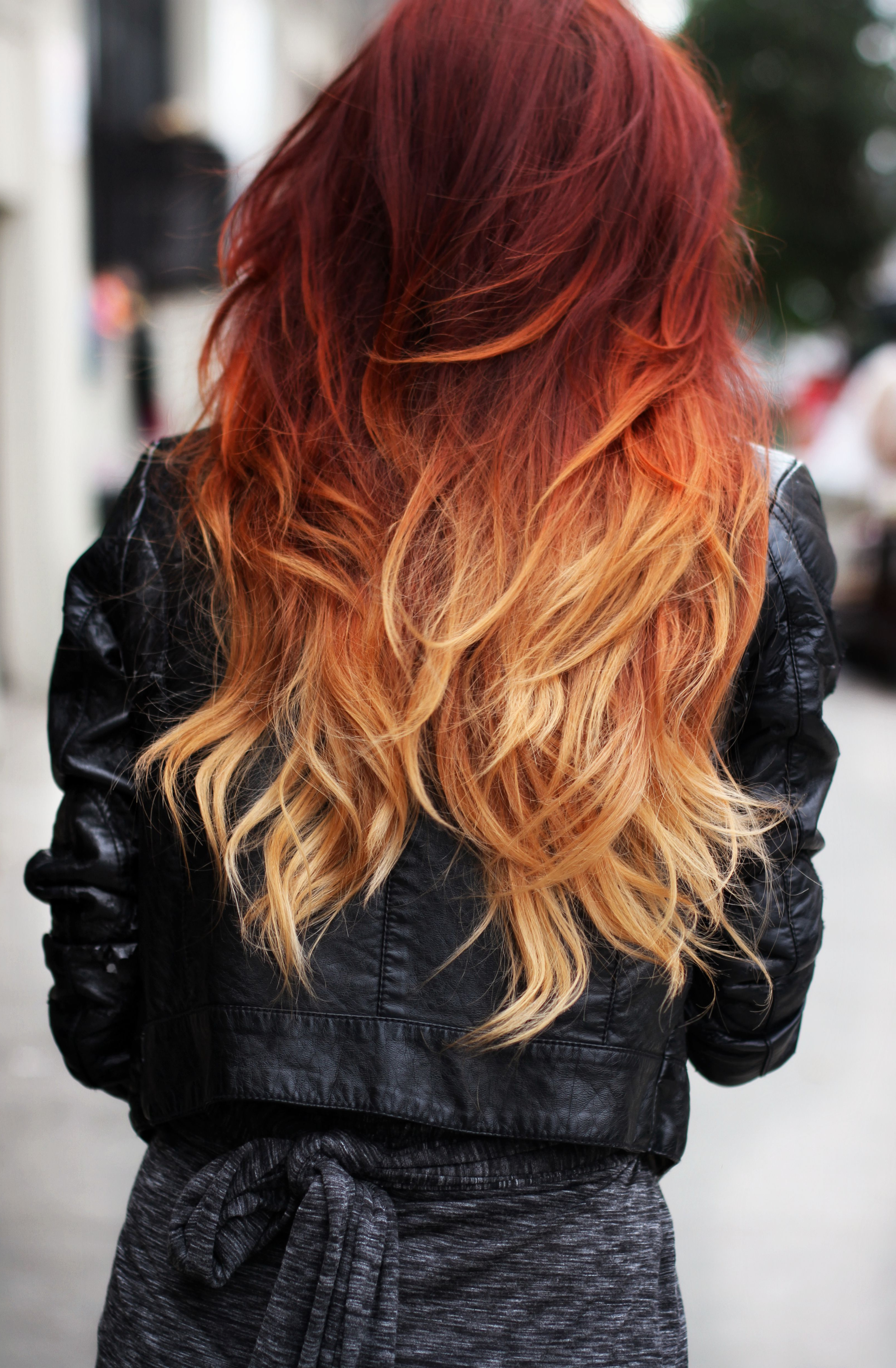 Red Ombre Throughout Most Popular Straight Layered Hairstyles With Twisted Top (View 18 of 20)