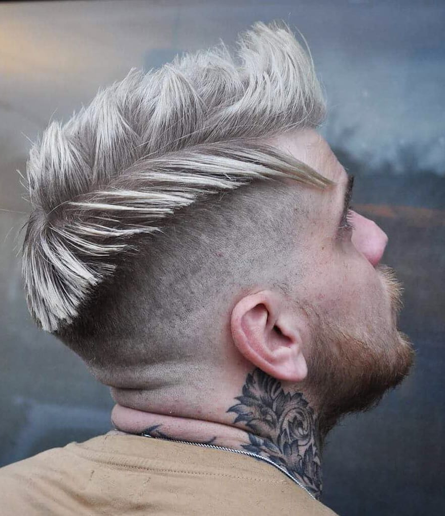Show Off Your Dyed Hair: 10 Colorful Men's Hairstyles In Latest Turquoise Side Parted Mohawk Hairstyles (View 16 of 20)