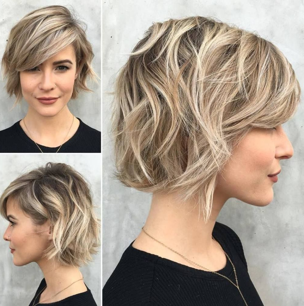 Side Swept Bang, Messy Layers (View 17 of 20)