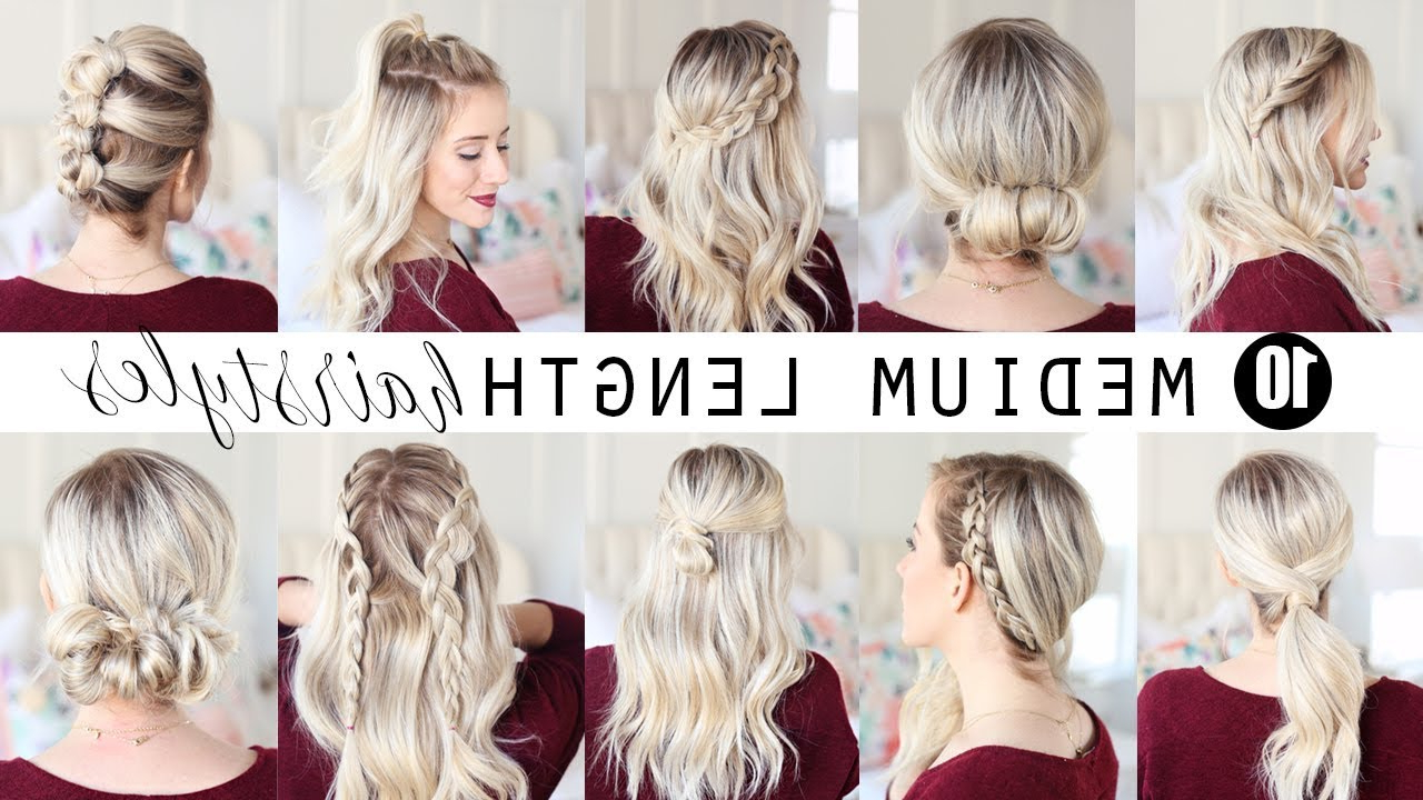 Ten Medium Length Hairstyles!!! (View 15 of 20)