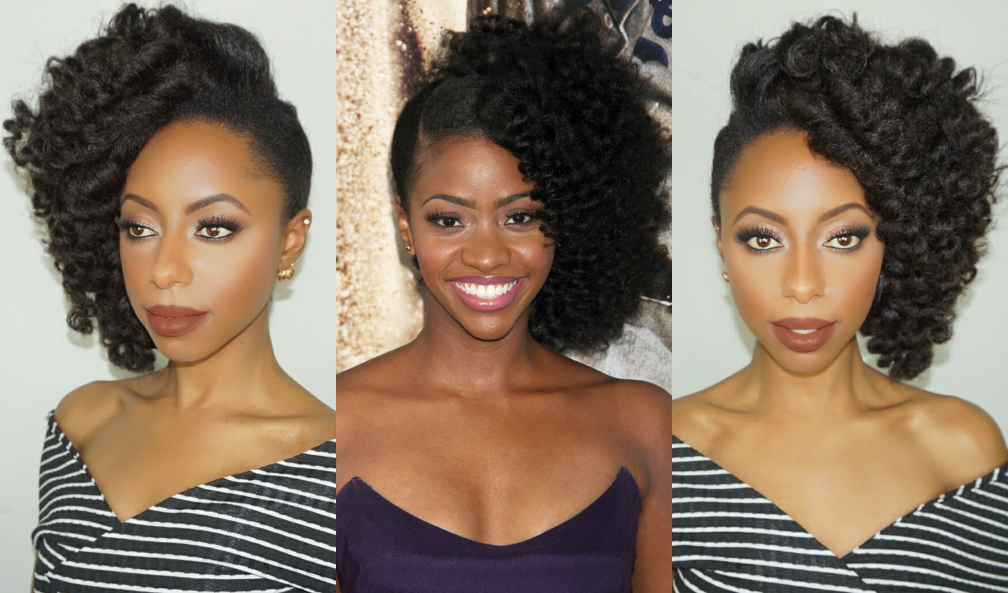 Teyonah Parris Inspired Red Carpet Side Swept Updo For Throughout Most Up To Date Side Hairstyles With Puff And Curls (View 16 of 20)