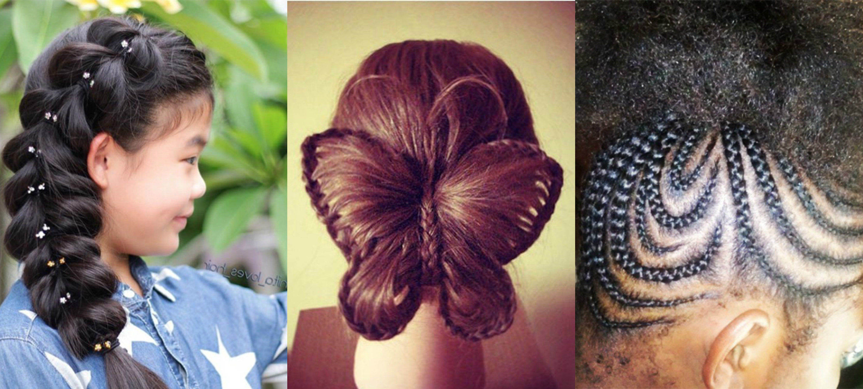 The Braid Ideas For Little Girls Every Mom Needs To Save With Regard To Current Braided Bun Hairstyles With Puffy Crown (View 14 of 20)
