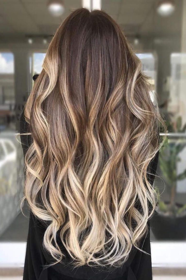 These Dark Blonde Color Ideas Are Low Maintenance Goals In 2019 Ravishing Smoky Purple Ombre Hairstyles (View 12 of 20)