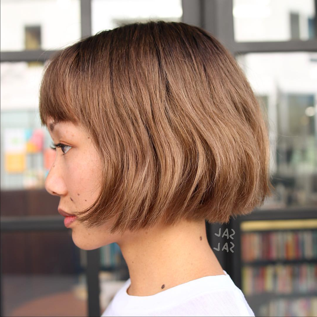 Trendy Round Bob Hairstyles With Front Bang In 40 Most Flattering Bob Hairstyles For Round Faces (View 18 of 20)
