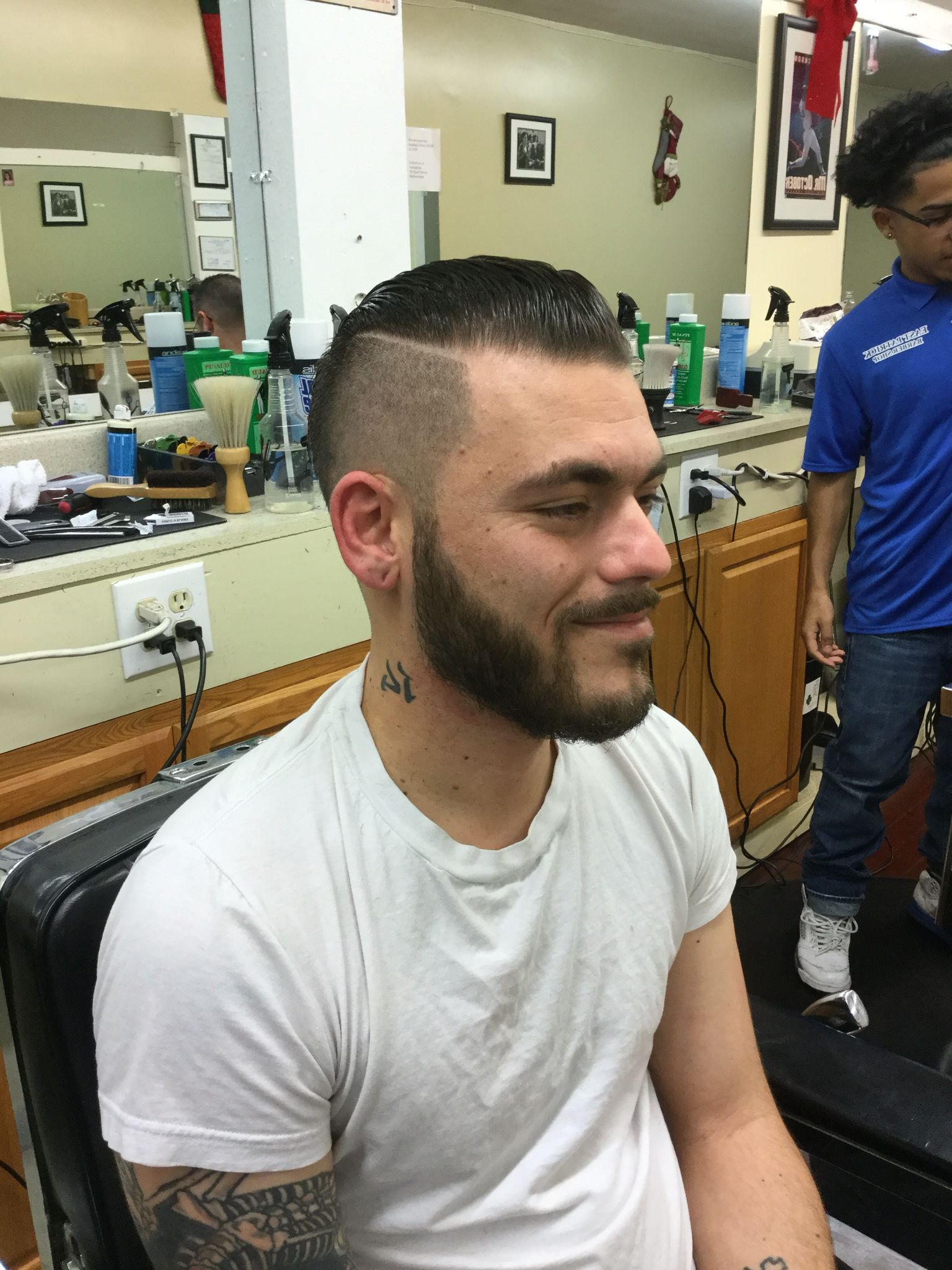 Undercut, With Side Part, Long Slick Back Hair On Top, With With Regard To 2019 Long Hairstyles With Slicked Back Top (View 11 of 20)