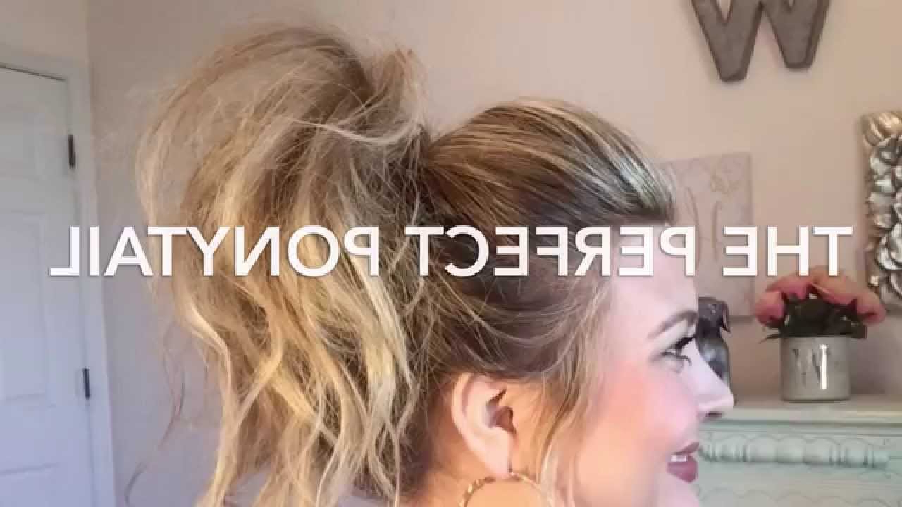 Well Known Messy High Ponytail Hairstyles With Teased Top Pertaining To The Perfect Ponytail Tutorial//khloe Kardashian Inspired//whitney Evans (Gallery 18 of 20)
