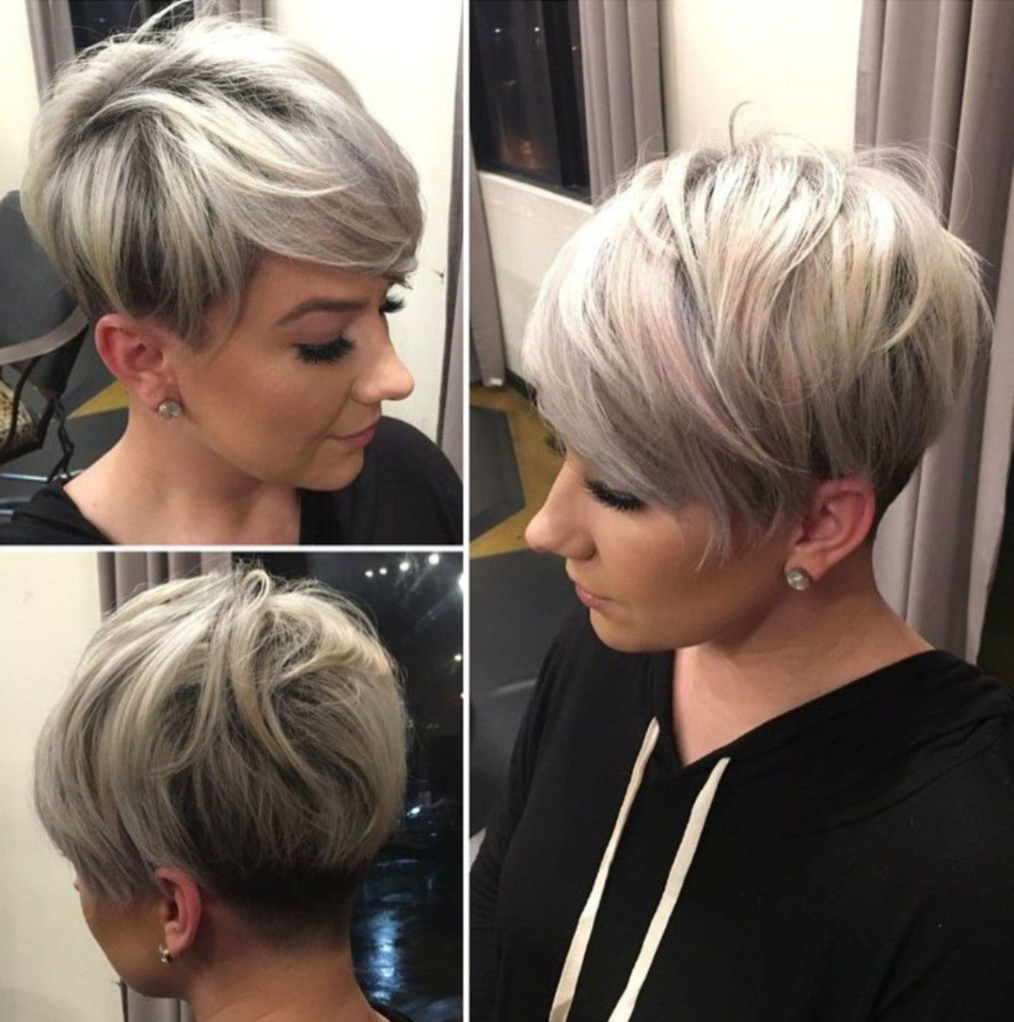 Well Known Short Platinum Blonde Bob Hairstyles In Fashion : 20 Great Cropped Platinum Blonde Bob Hairstyles (Gallery 8 of 20)