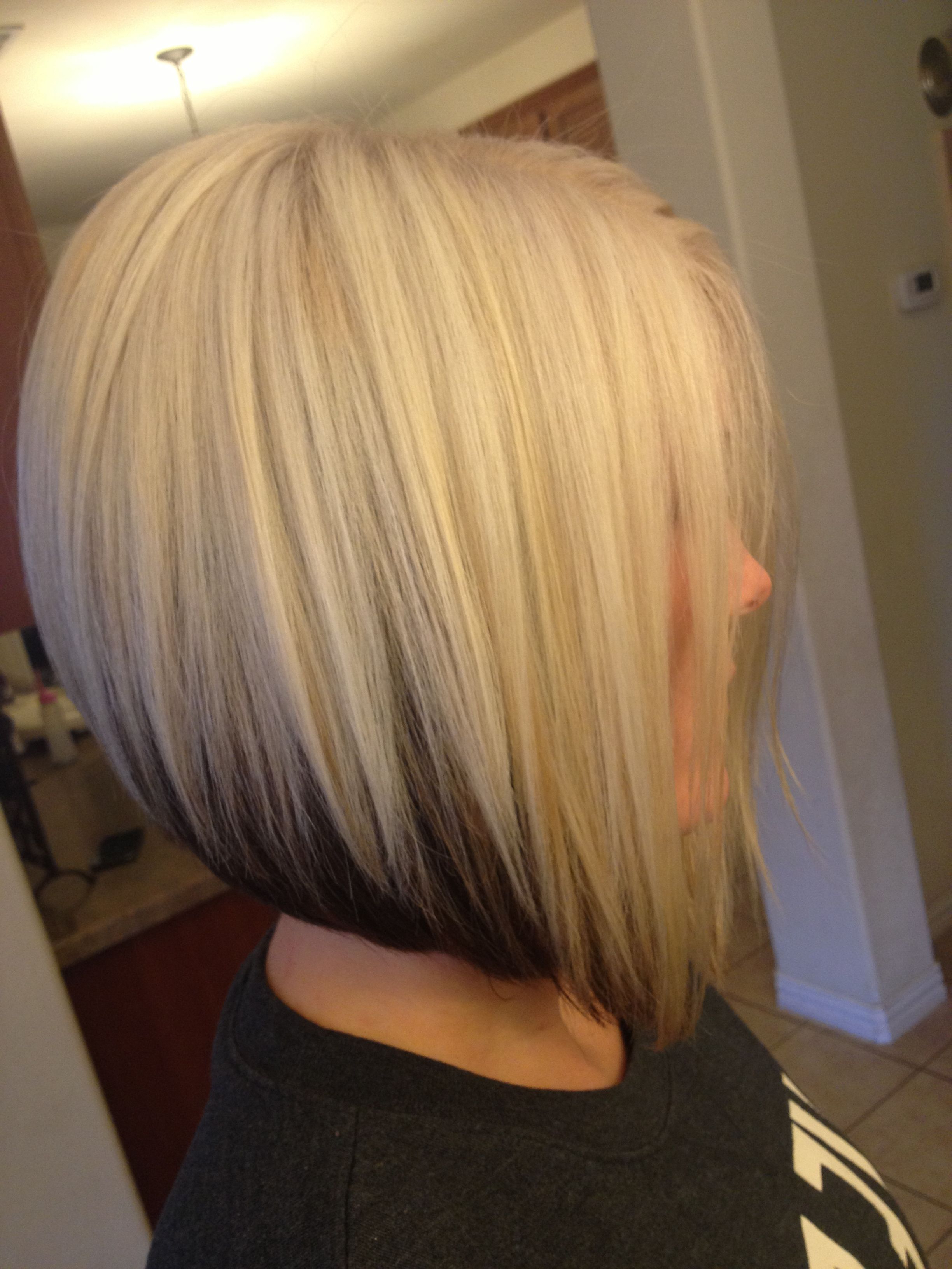 Well Known Short Platinum Blonde Bob Hairstyles With Platinum Blonde Bob With Dark Brown Underneath (View 19 of 20)