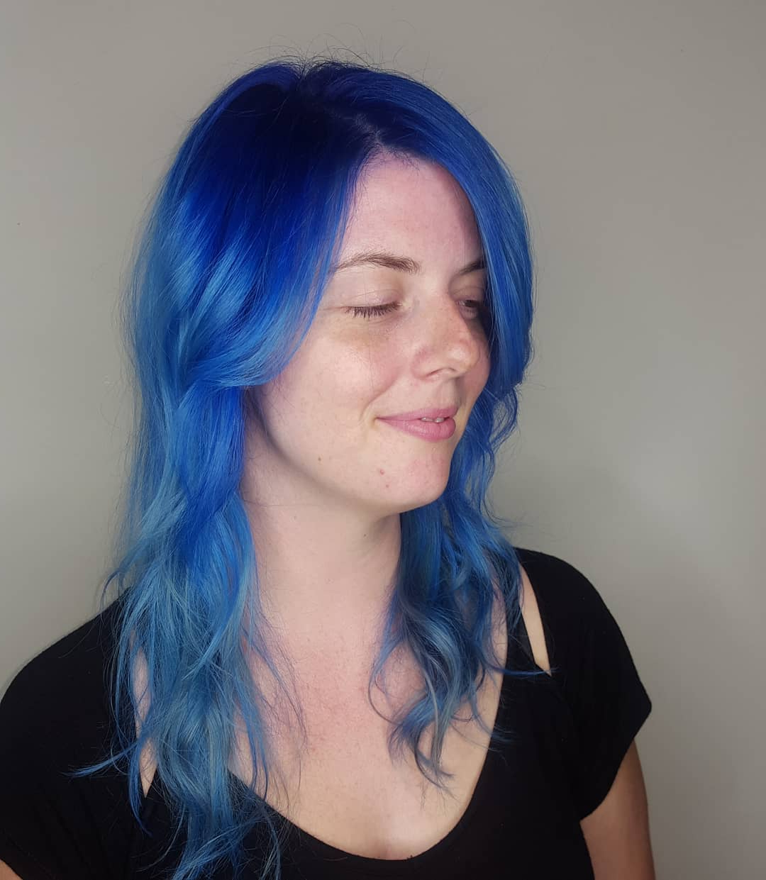 Well Liked Black And Denim Blue Waves Hairstyles Inside 155 Blue Hair Color Ideas (2019 Designs) (View 12 of 20)