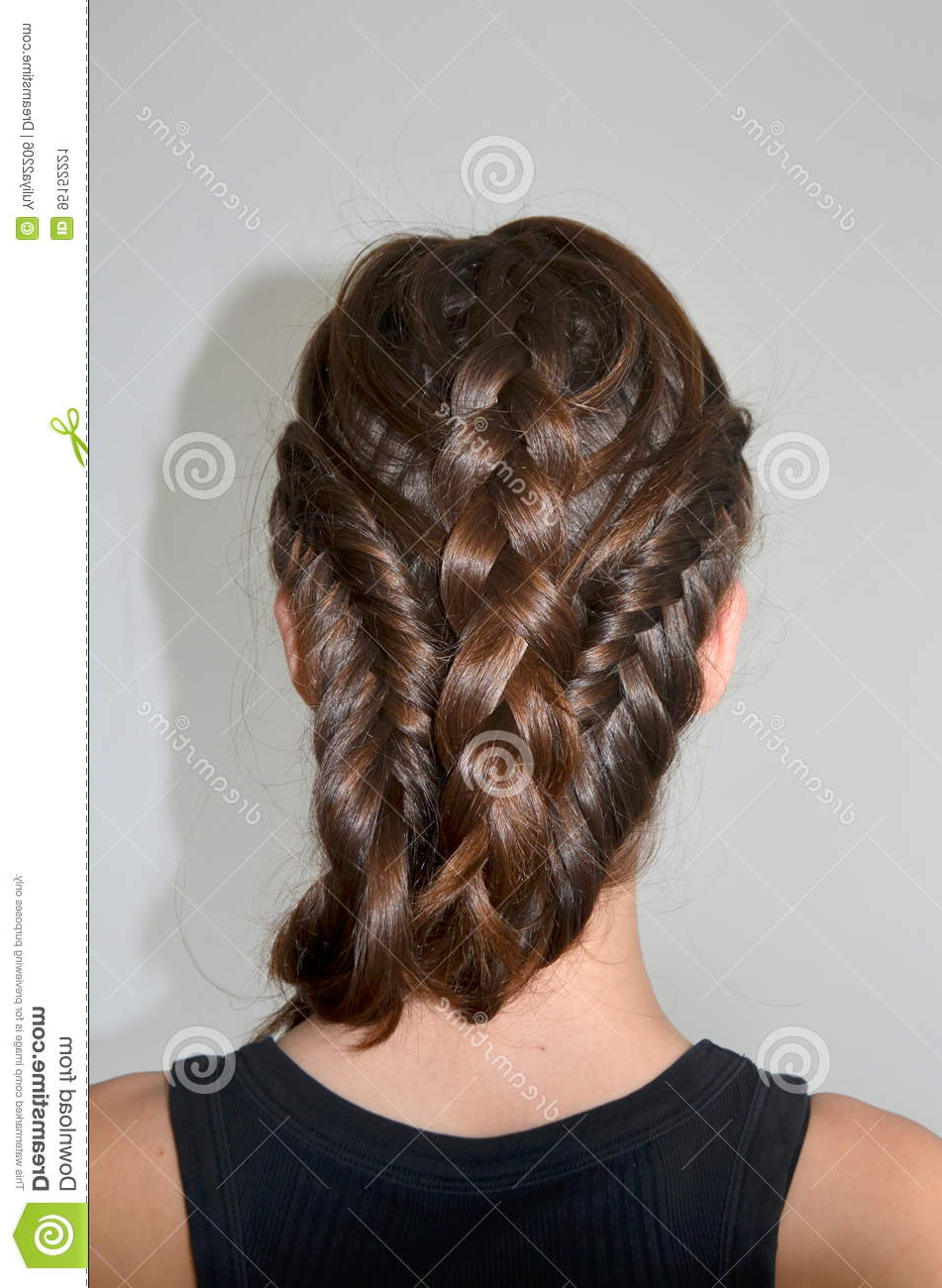 Well Liked Braided Shoulder Length Hairstyles Intended For Hairstyle Braiding On Medium Length Stock Image – Image Of (View 14 of 20)