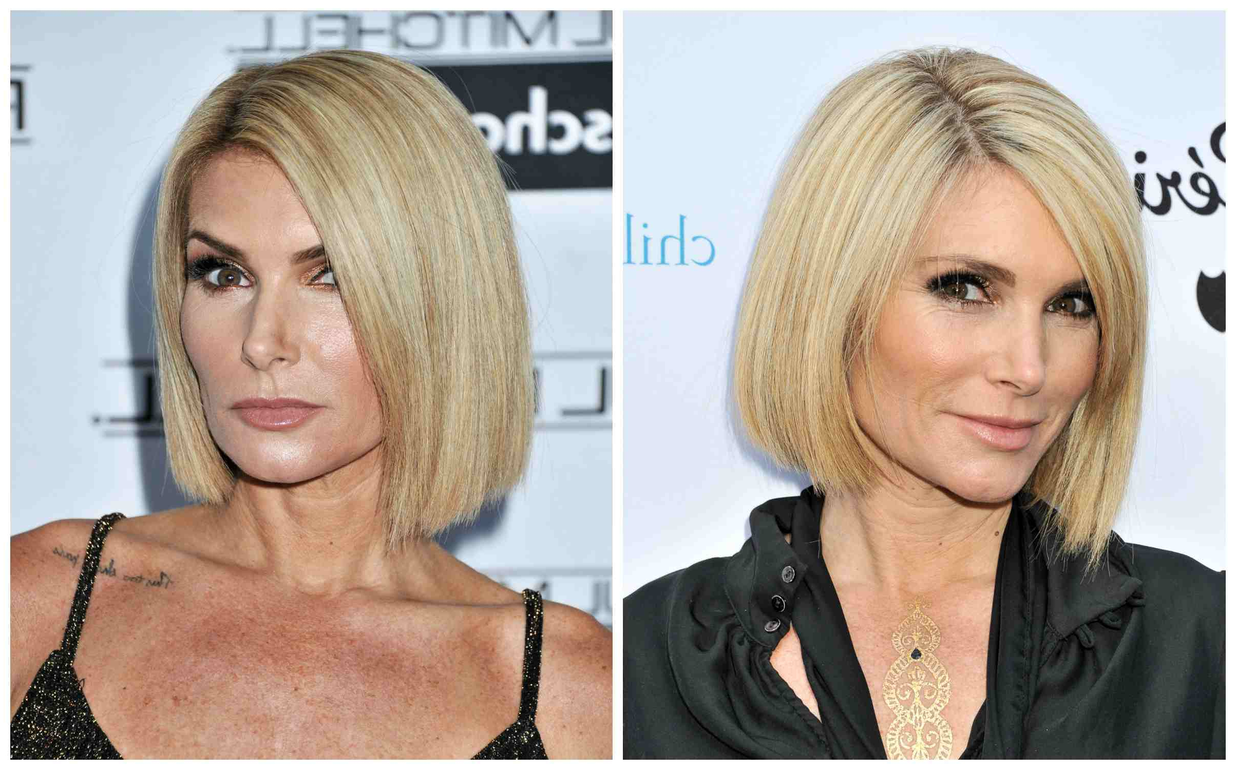 Well Liked Chin Length Bob Hairstyles With Middle Part Throughout 18 Flattering Bob Hairstyles On Older Women (View 20 of 20)