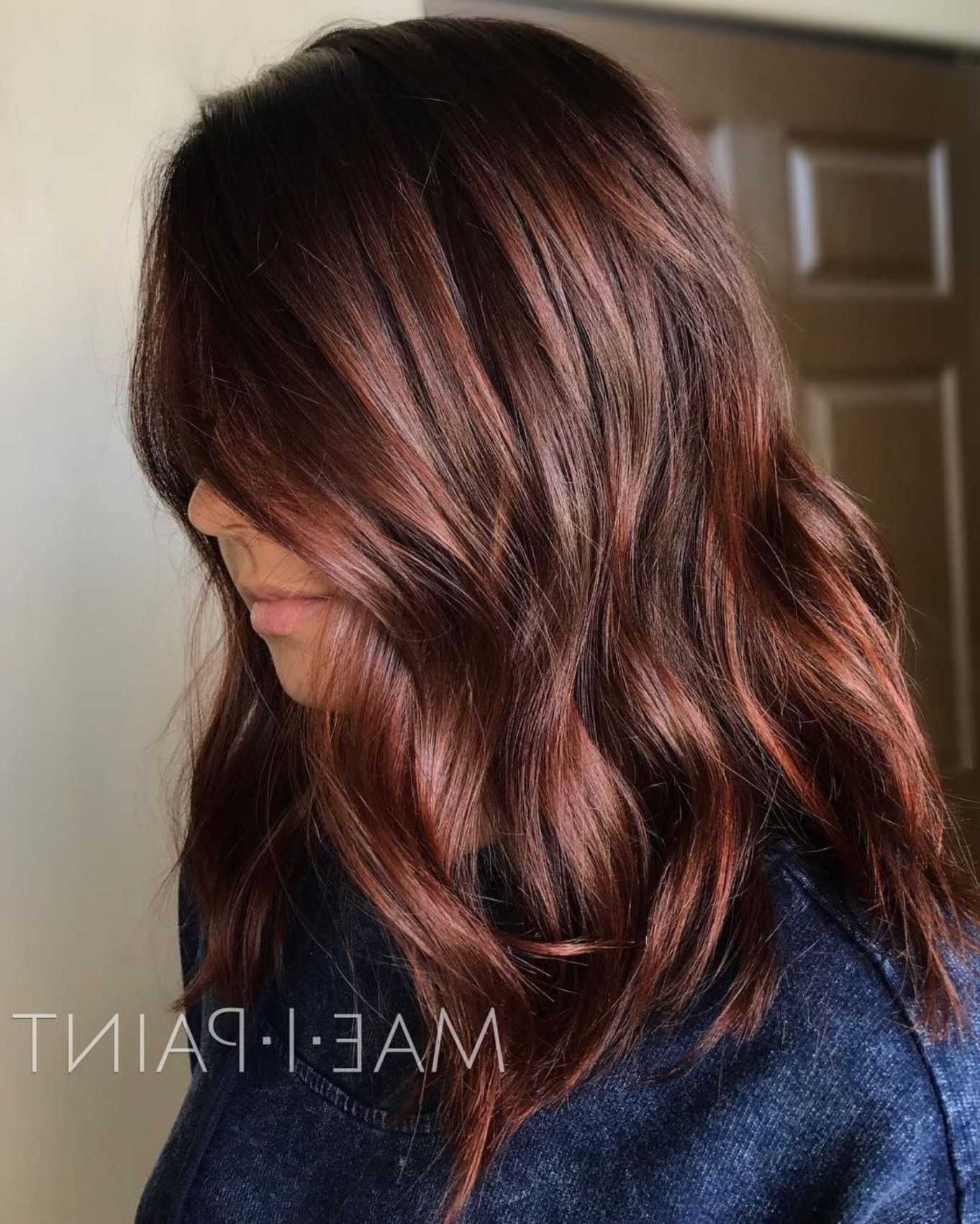 Well Liked Long Layered Hairstyles With Added Sheen Intended For Auburn Hair #26: Cinnamon Sheen For Medium Hair (Gallery 6 of 20)
