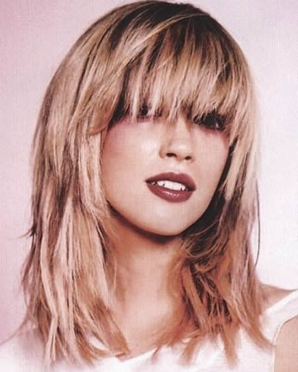 Women Hairstyle : Medium Long Layered Hairstyles Straight Inside Most Up To Date Medium Length Bob Asian Hairstyles With Long Bangs (View 18 of 20)