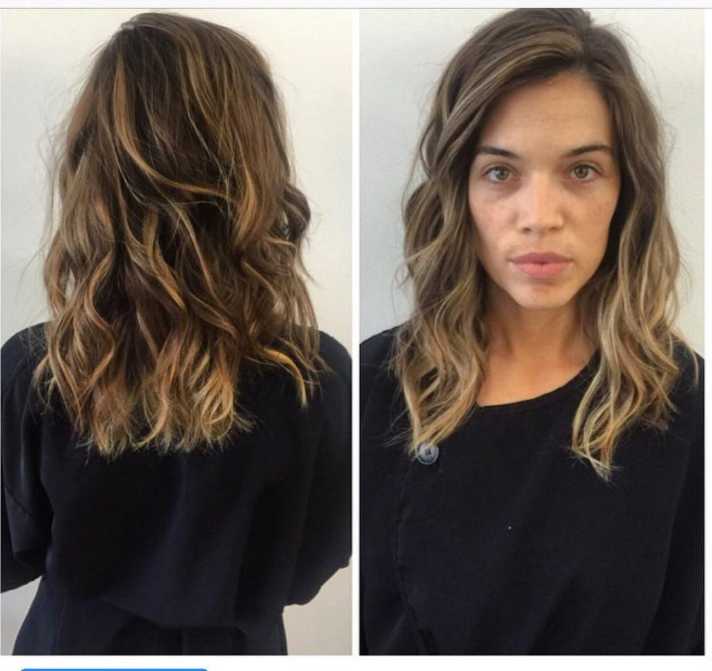 Women's Wavy Layered Lob With Long Side Swept Bangs And Pertaining To Recent Long Wavy Hairstyles With Side Swept Bangs (Gallery 3 of 20)