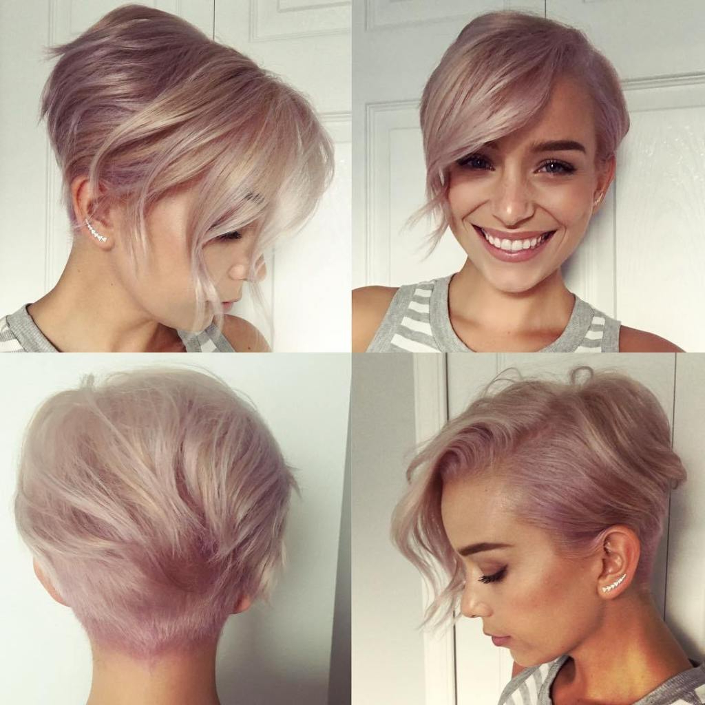 034 Short Hairstyles For Fine Hair Trend Haircuts Women Rare Inside Pastel Pixie Haircuts With Curly Bangs (View 14 of 20)