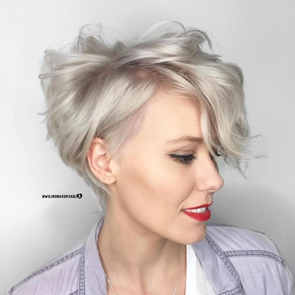 10 New Ways To Sport Short Wavy Hair With Bangs In 2019 For Pastel Pixie Haircuts With Curly Bangs (Gallery 1 of 20)