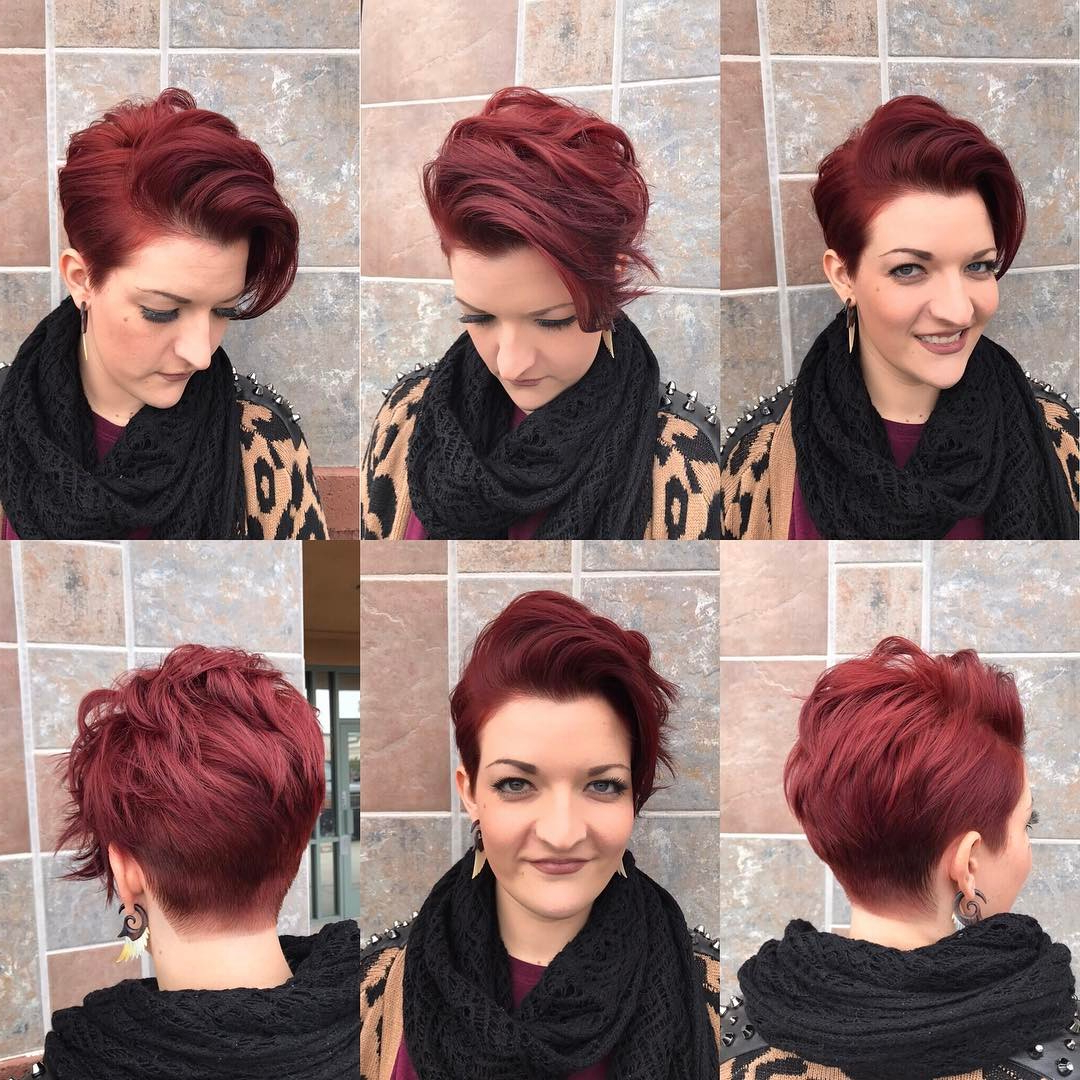 10 Short Hairstyles For Women Over 40 – Pixie Haircuts 2020 Inside Edgy Red Hairstyles (Gallery 15 of 20)