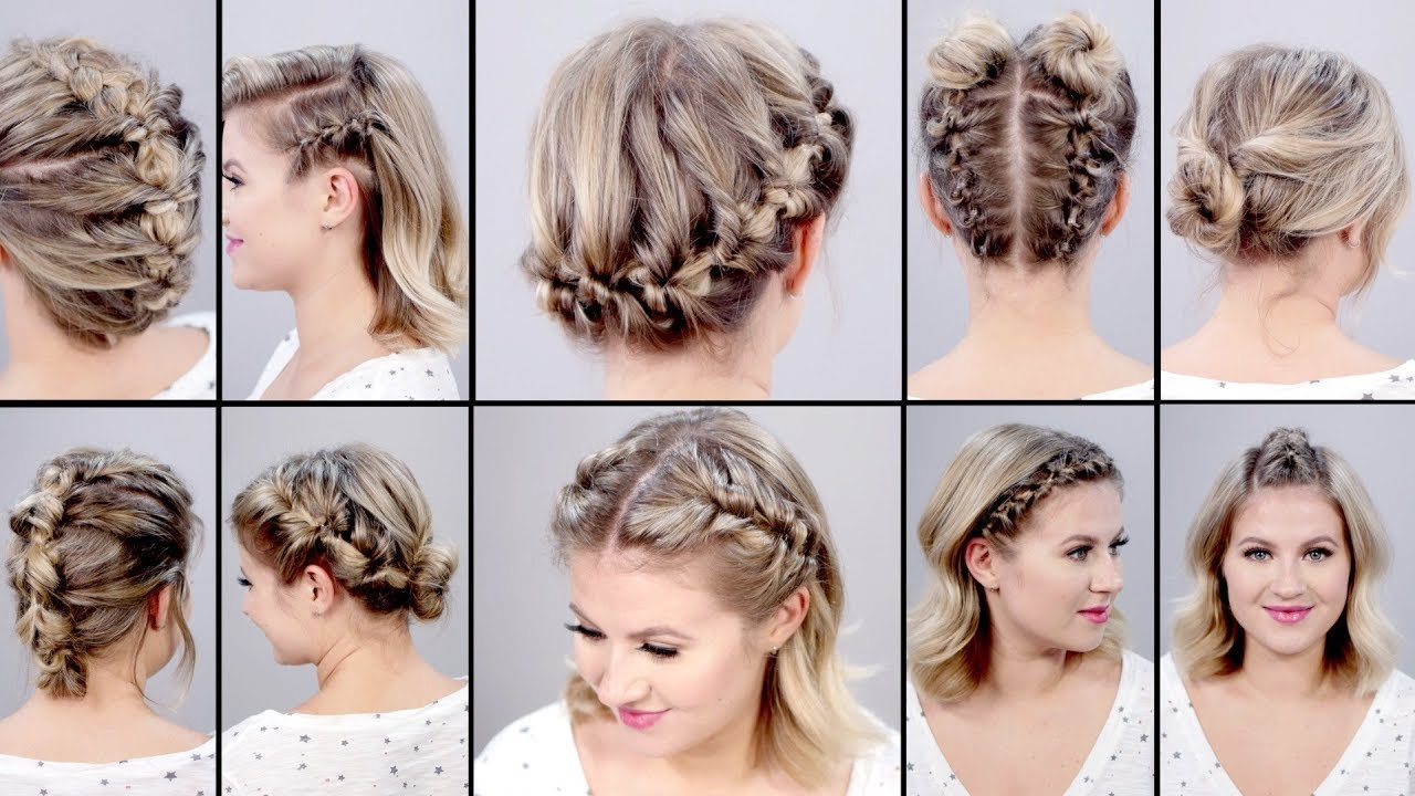 10 Super Easy Faux Braided Short Hairstyles: Topsy Tail Edition With Pretty Short Bob Haircuts With Braid (View 4 of 20)