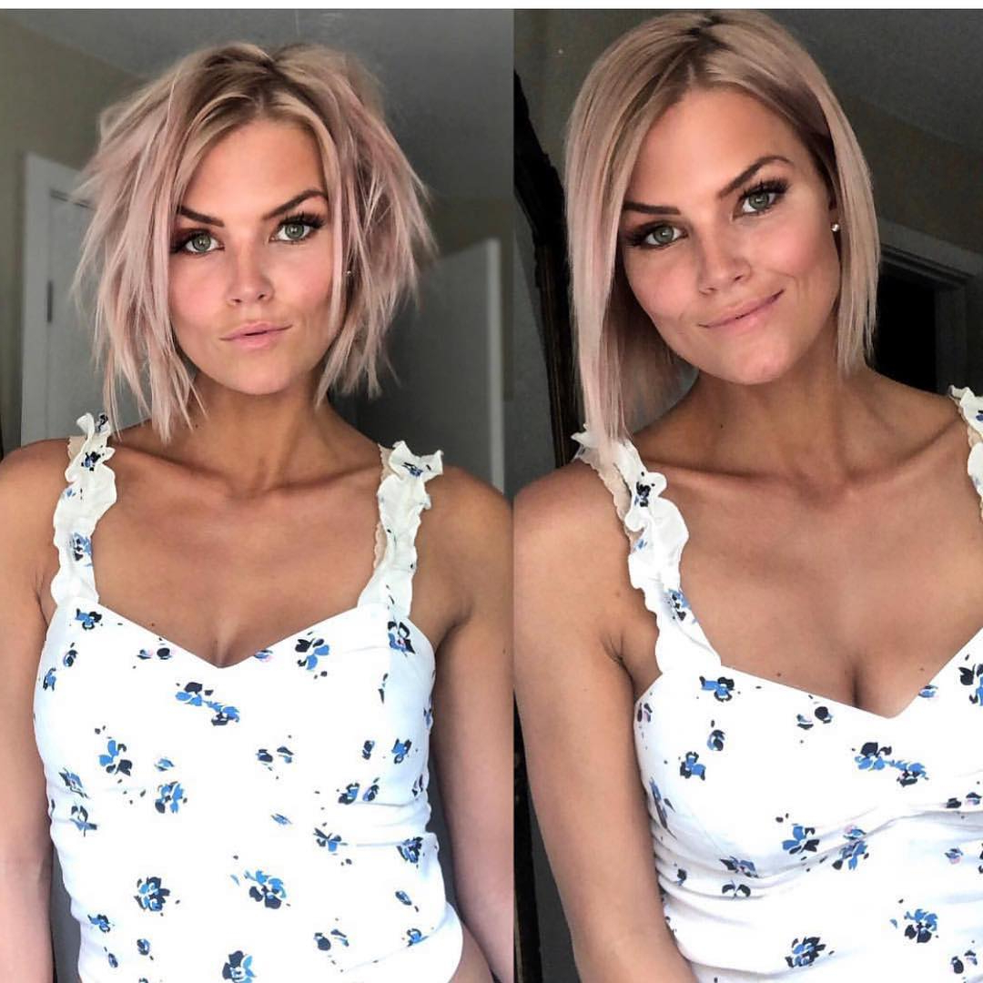 10 Trendy Messy Bob Hairstyles And Haircuts, 2020 Female For Modern And Stylish Blonde Bob Haircuts (View 6 of 20)