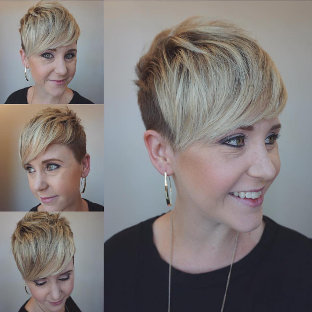 10 Trendy Very Short Haircuts For Female, Cool Short Hair For Blonde Pixie Haircuts With Curly Bangs (Gallery 9 of 20)