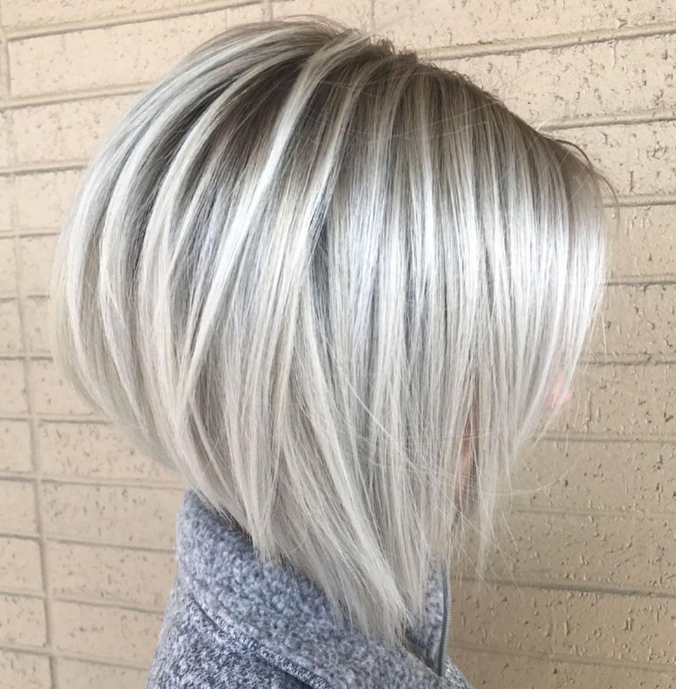 100 Mind Blowing Short Hairstyles For Fine Hair | Hair In Throughout Silver Short Bob Haircuts (View 5 of 20)
