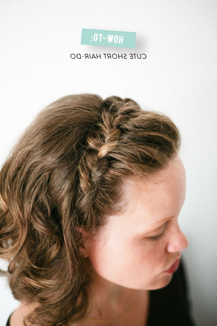12 Pretty Braided Hairstyles For Short Hair – Pretty Designs Regarding Pretty Short Bob Haircuts With Braid (View 5 of 20)