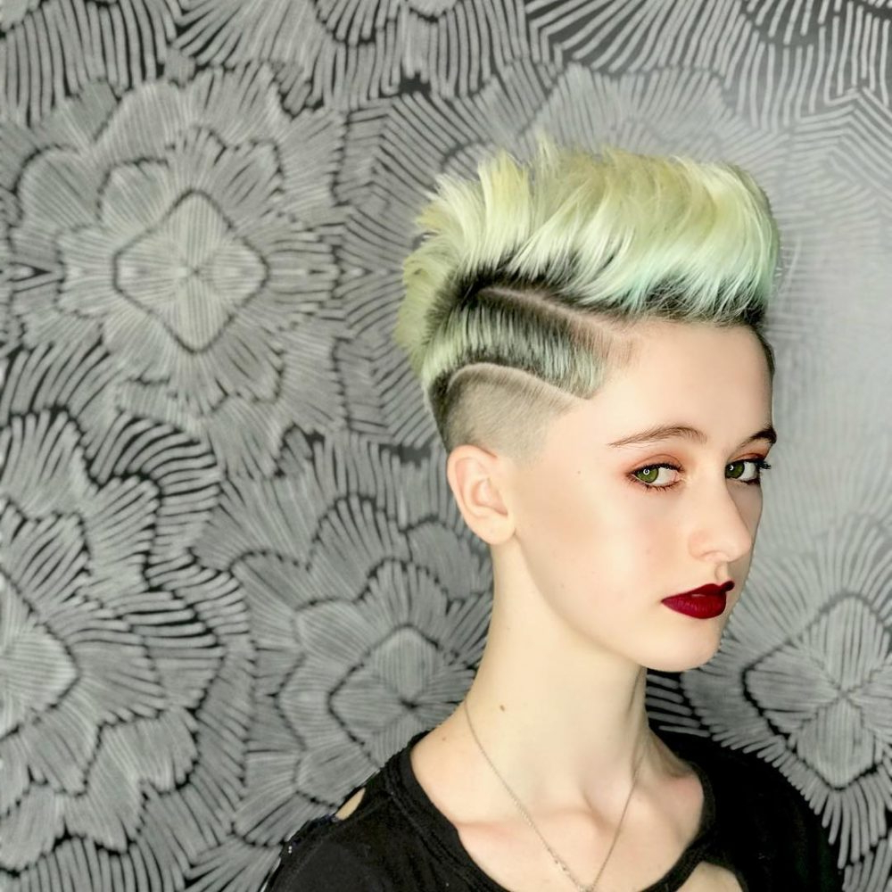 19 Punk Hairstyles For Women (Trending In 2019) Throughout 2020 Punk Mohawk Updo Hairstyles (Gallery 19 of 20)